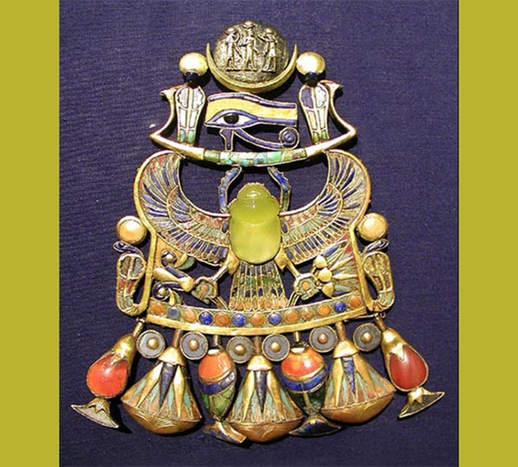 King Tut's Breastplate Features a Scarab Carved From Rare Libyan Desert Glass